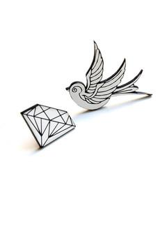 DWUKROOPEK - jaskółka i diament
