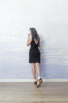 RISK made in warsaw - sukienka RIBBON DANCE black