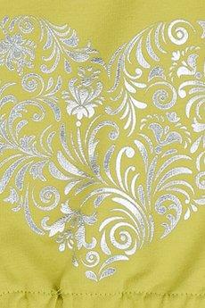 LIMONKA - Sukienka limonkowa z sercem