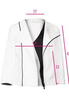 DIAMOND DUST - Biała asymetryczna kurtka
