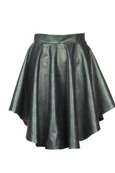 DIAMOND DUST - Zielono perłowa asymetryczna spódnica