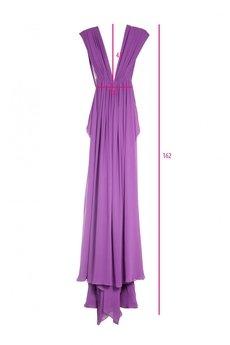 DIAMOND DUST - Fioletowa suknia z jedwabiu