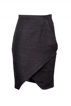 - Czarna spódnica kopertówka