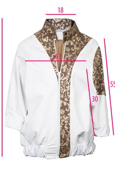 - Biało złota kurtka bomberka