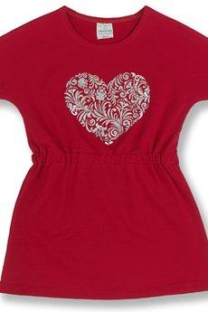 LIMONKA - Sukienka czerwona z sercem
