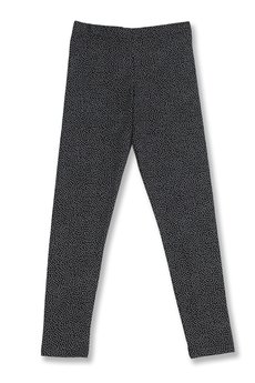LIMONKA - Czarne legginsy w kropeczki