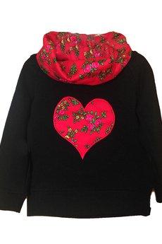 Go 01 czarny czerwone serce