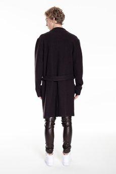 MALE-ME - Płaszcz wełniany ROYALS  BRĄZ 