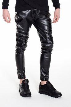 MALE-ME - Spodnie UNIVERSUM z eko-skóry WAX EFFECT |CZARNE| |linia CONSTANS|