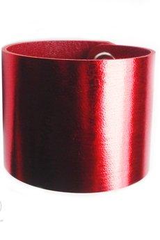 Czerwona metallic mankiet 1