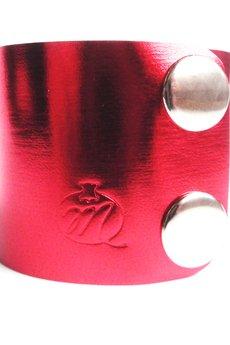 Czerwona metallic mankiet 2