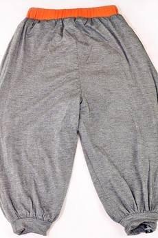Spodnie alladynki  lajn dwustronne ciemny szary pomara%c5%84czowy
