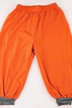 Spodnie alladynki lajn dwustronne  pomara%c5%84czowe ciemny szary