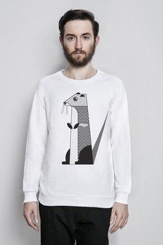 Bluza bia%c5%82a reglan model wydra