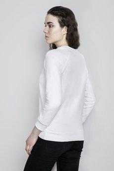 Bluza bia%c5%82a reglan modelka ty%c5%82