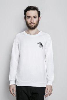 Bluza bia%c5%82a reglan model zwierzeta zimorodek maly