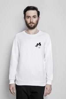 Bluza bia%c5%82a reglan model zwierzeta rudzik maly