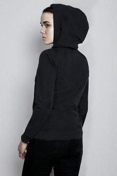 Bluza z kapturem czarna tyl