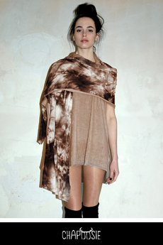 Chapoosie szal duncan shawl brwn