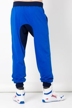 BLUE EYE POP - spodnie męskie z obniżonym stanem/chaber