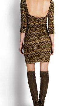 SAX35TH by Alicja Czarniecka - Kolorowa sukienka w zygzaki