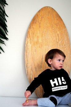 New Kids On The Spot - Bluza HI5 BLACK z przedłużanymi rękawkami