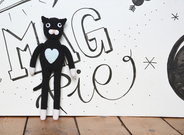 Kot Prot Czarny Magpie Przytulanki Mustachepl