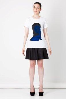 BLUE EYE POP - T-shirt damski z nadrukiem