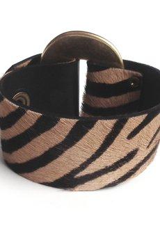 - Bransoletka skóra zebra GOLDen