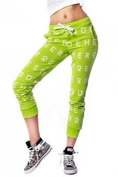 Spodnie w litery elektryczna limonka 2