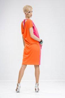 Unicorno sukienka mila r%c3%b3%c5%bcowopomara%c5%84czowy 1