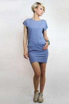 Unicorno sukienka mila niebieski granatowy 1
