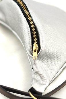 - Full-Metal Silver-Gold - nerka na skórzanym paseczku