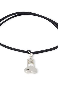 B-Nasty - SILVER CHARMS WITH BLACK CORDS