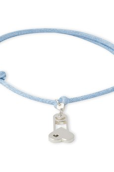 B-Nasty - SILVER CHARMS WITH BLUE CORDS
