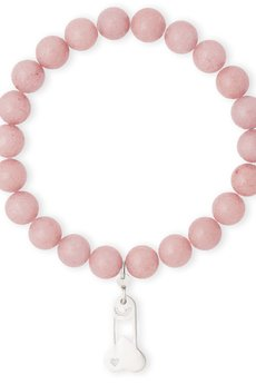 B-Nasty - SILVER CHARMS WITH PINK BRACELET
