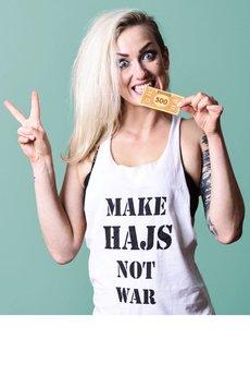 Make hajs not war barin inside tank top bia%c5%82y male  mustache