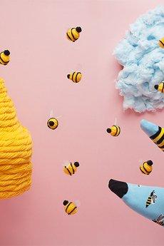 Many Mornings - Skarpetki Bee Bee