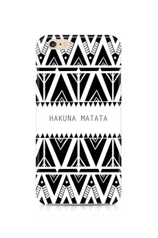 ZO-HAN - iPhone Case - Hakuna Matata B&W