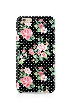 ZO-HAN - iPhone Case - Dots & Roses on Black