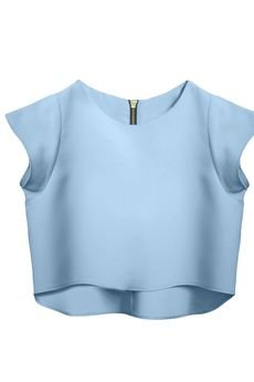 KOZACKI MOPS - Bluzka Delicja baby blue