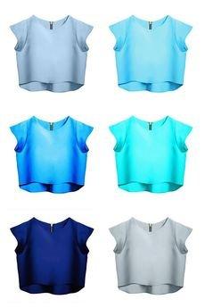 - Bluzka Delicja baby blue