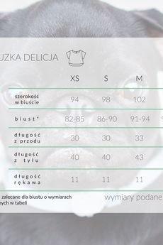 KOZACKI MOPS - Bluzka Delicja pudrowy róż