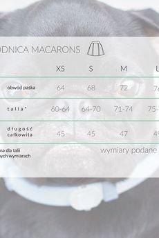KOZACKI MOPS - Spódnica Macarons czarny