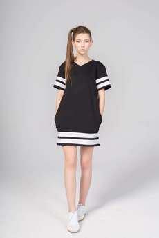 KOZACKI MOPS - Sukienka T-Dress czarna