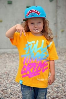 BABYHOOD - T-SHIRT FULL TIME CRIME YELLOW
