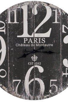 MIA home passion - Zegar drewniany Paris 1592 czarny