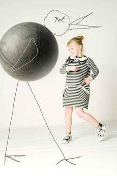 - sukienka dresowa w paski