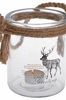 MIA home passion - Lampion szklany z reniferem większy