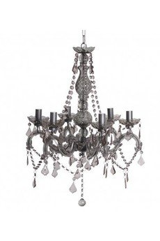 MIA home passion - Żyrandol z kryształkami szary I